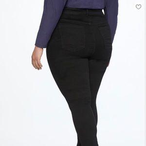 NWT Eloquii Black Denim Skinny (Size 16)